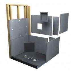 Kit panneaux douche a l italienne kit carré 90 x 90 cm