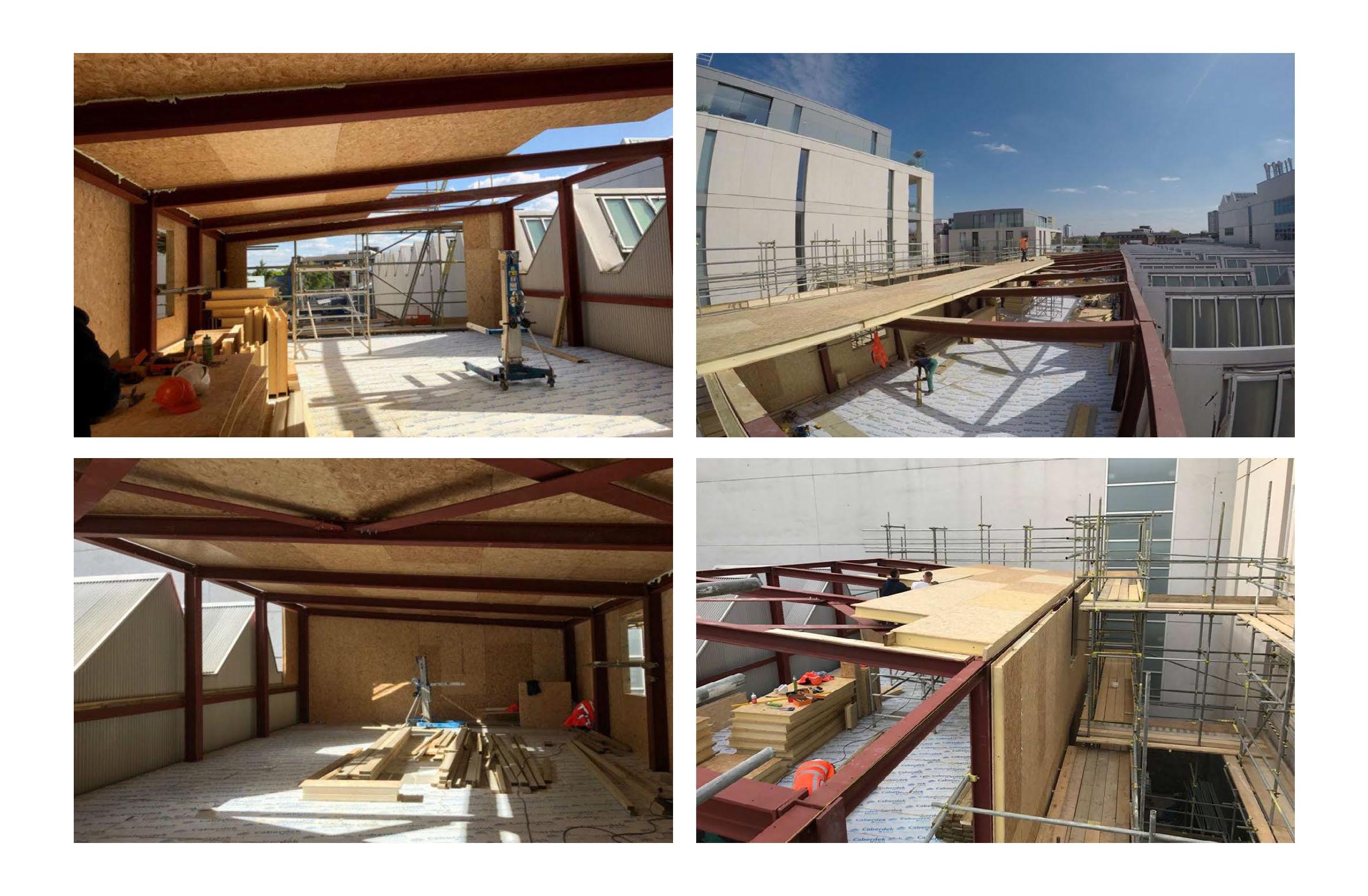 Hall entrepot panneaux sips couverture toit et murs par 4 photo (2)