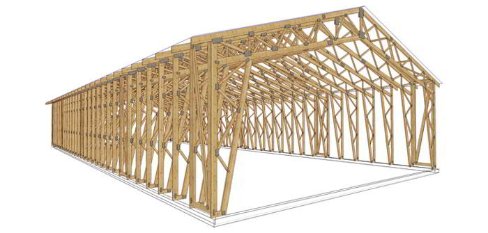 Panneaux maison ossature bois complexe 031