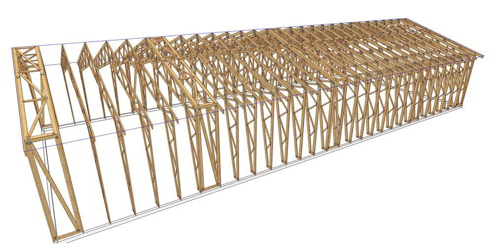Panneaux maison ossature bois complexe 033
