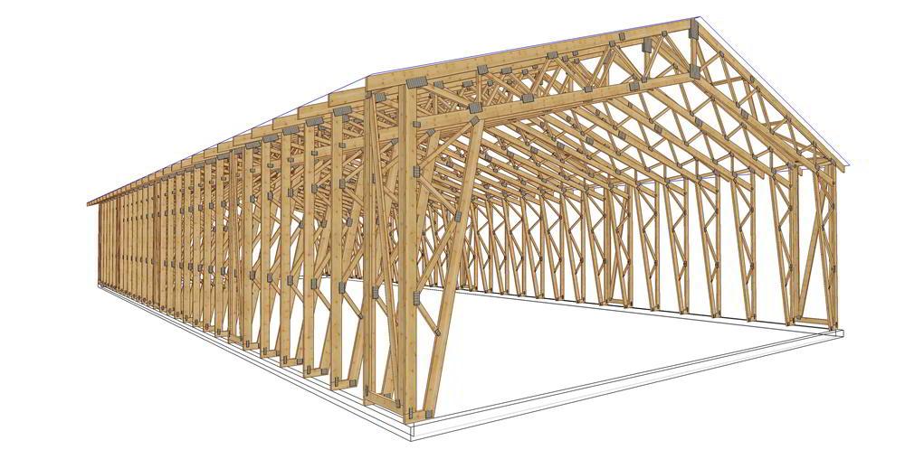 Panneaux maison ossature bois complexe 034