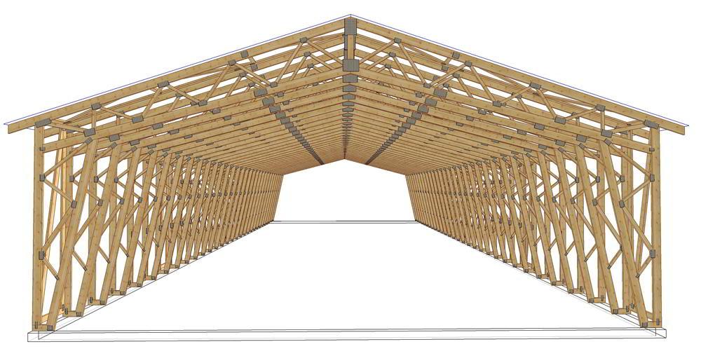 Panneaux maison ossature bois complexe 035