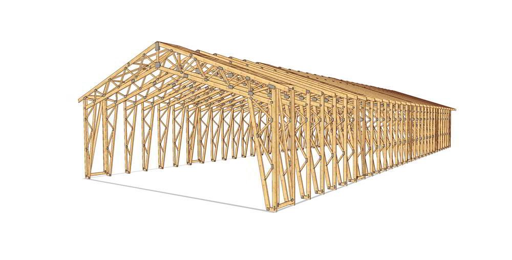 Panneaux maison ossature bois complexe 036