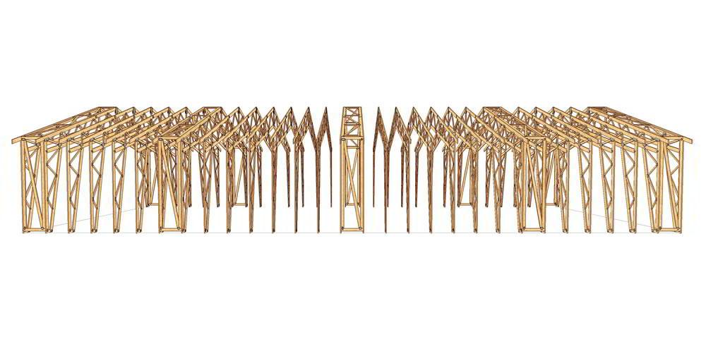 Panneaux maison ossature bois complexe 037