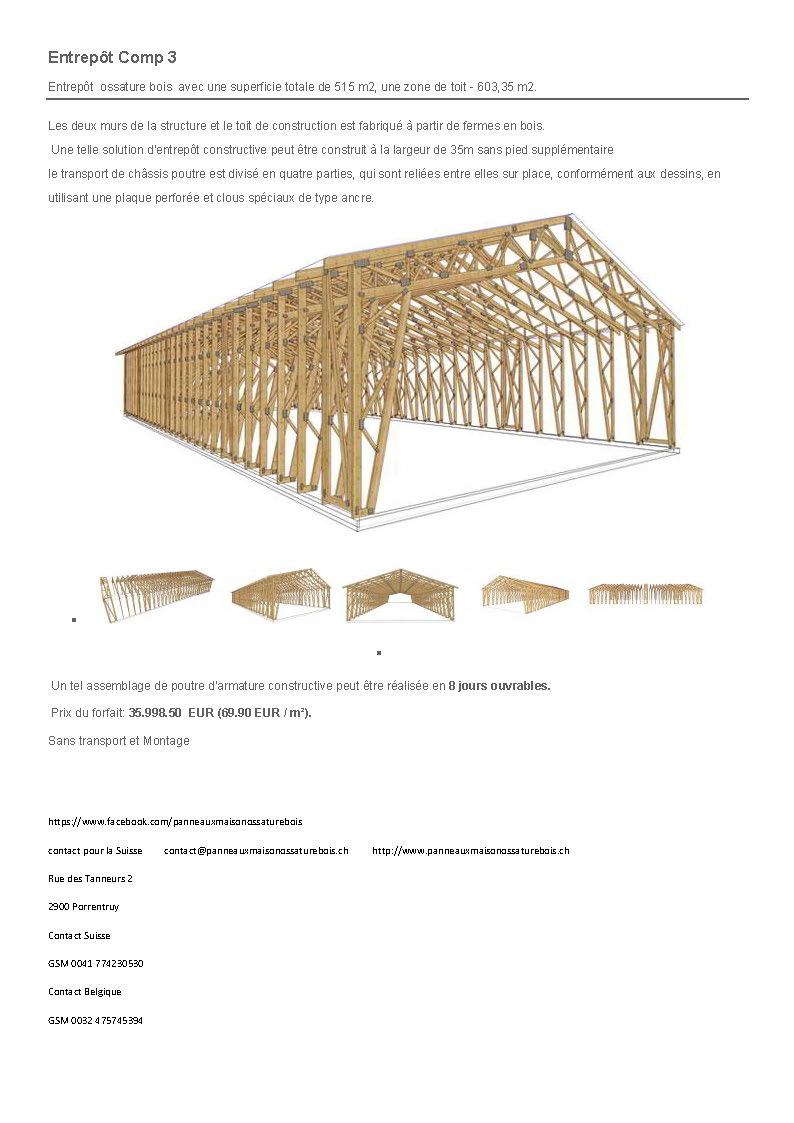 Panneaux maison ossature bois complexe 038