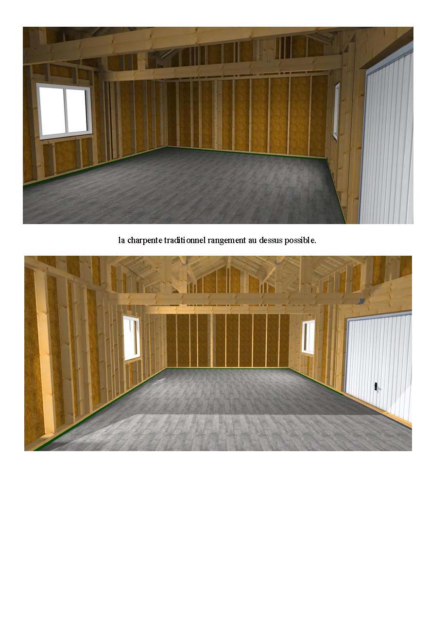 un garage en ossature bois de 48 m panneaux maison. Black Bedroom Furniture Sets. Home Design Ideas