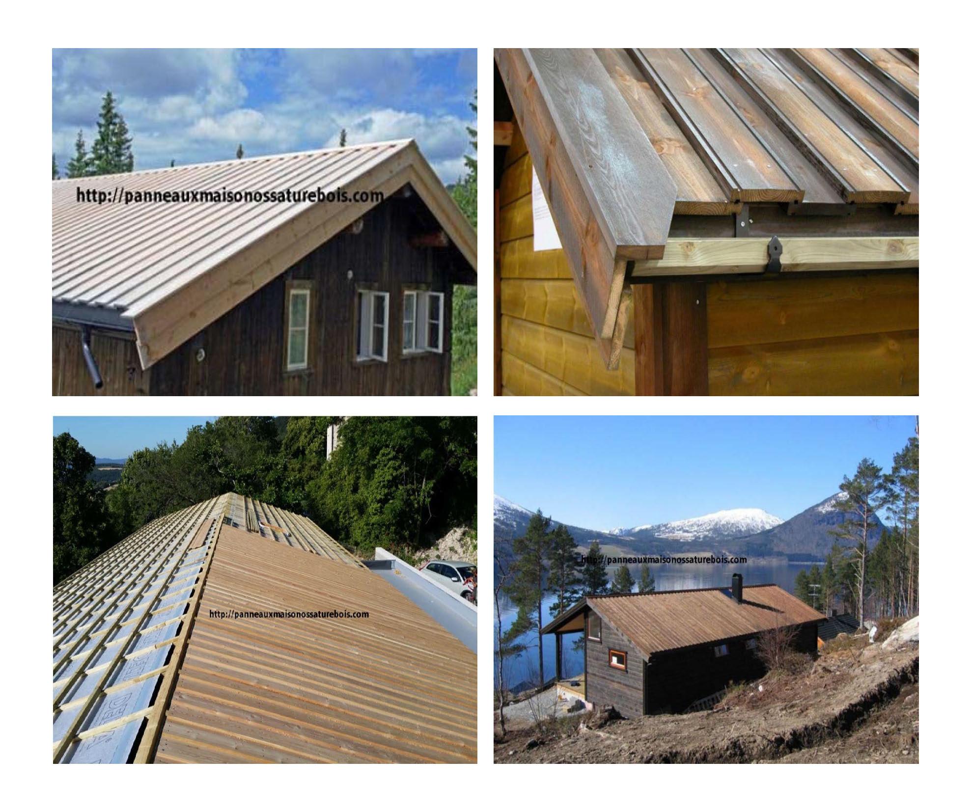 couverture toiture panneaux maison ossature bois. Black Bedroom Furniture Sets. Home Design Ideas