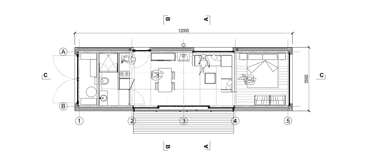 studio modulable 42 m² panneaux ossature bois.com (9)