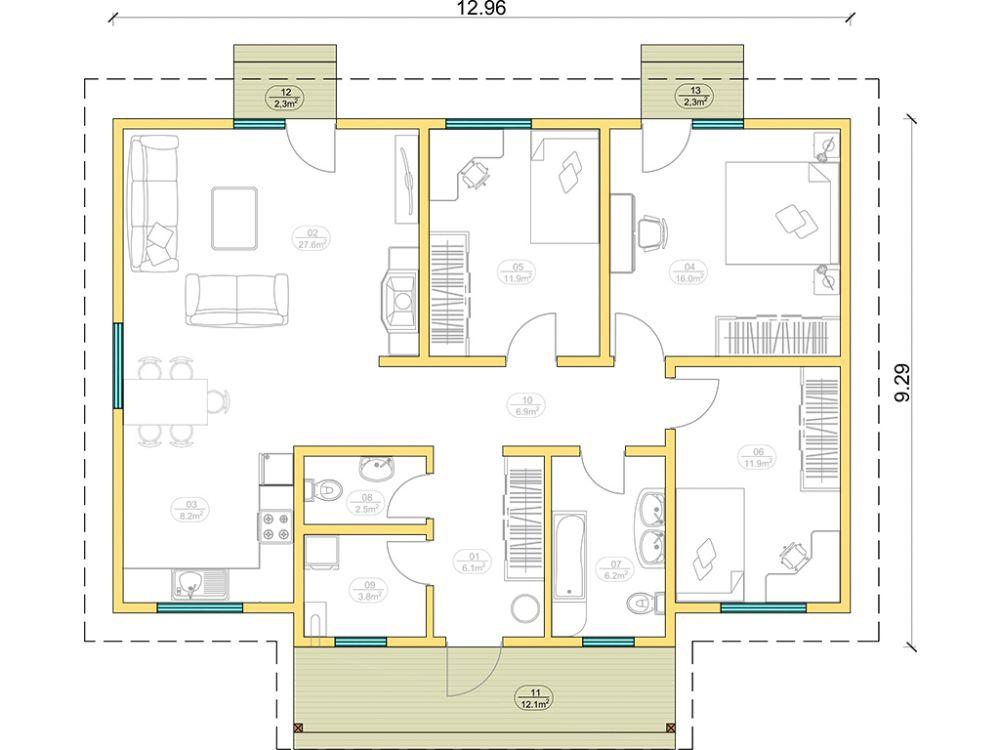 Kit maison 101 m² panneaux sips httpwww.panneauxmaisonossaturebois.com (1)