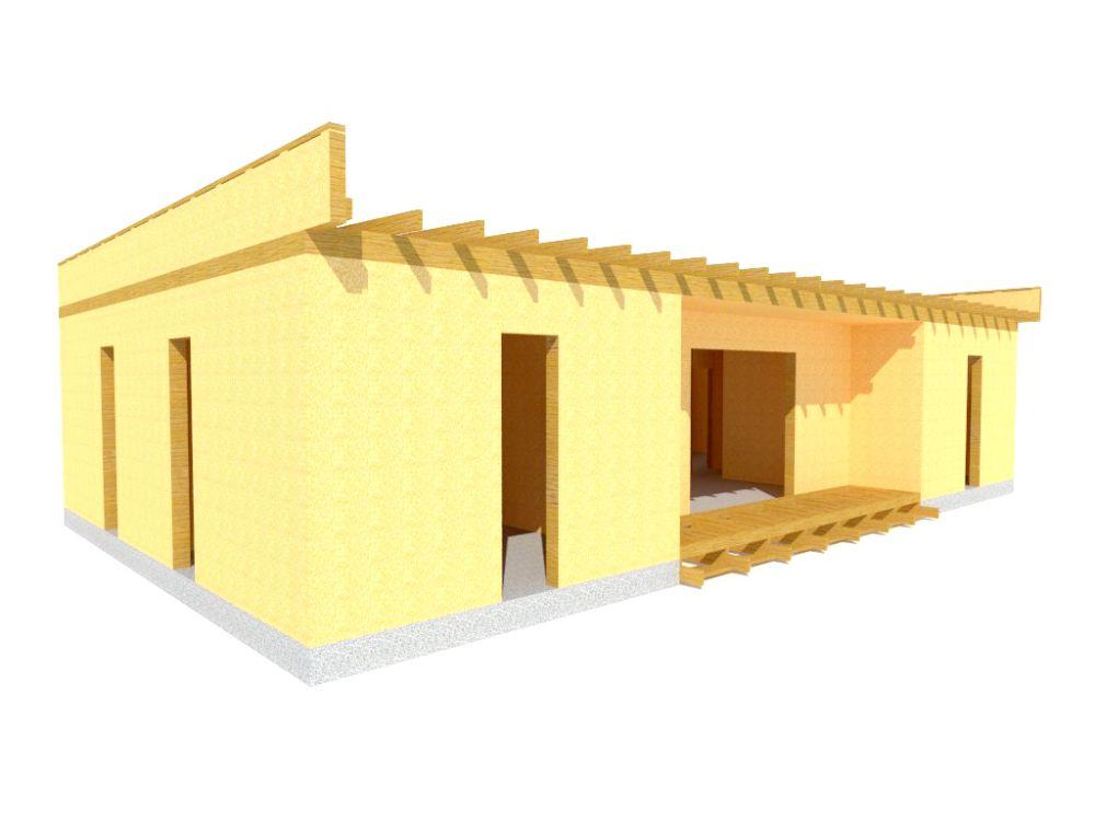 Kit maison 103 m² panneaux sips httpwww.panneauxmaisonossaturebois.com (4)