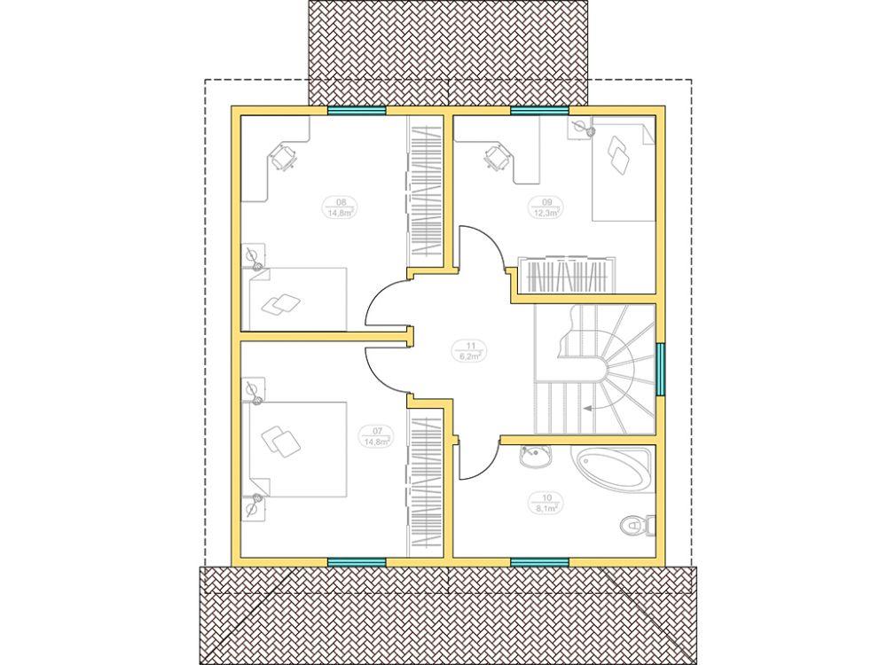 Kit maison 122 m² panneaux sips httpwww.panneauxmaisonossaturebois.com (3)