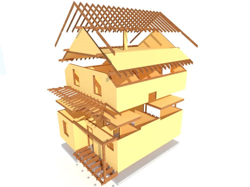 Kit maison 122 m² panneaux sips httpwww.panneauxmaisonossaturebois.com (7)