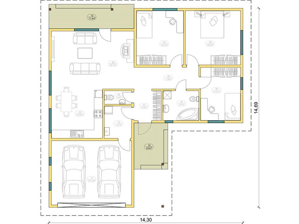 Kit maison 132 m² panneaux sips httpwww.panneauxmaisonossaturebois.com (1)