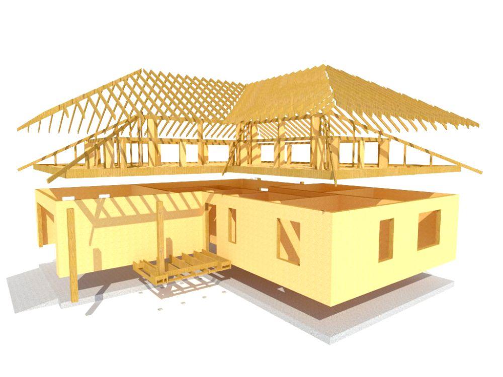 Kit maison 132 m² panneaux sips httpwww.panneauxmaisonossaturebois.com (4)