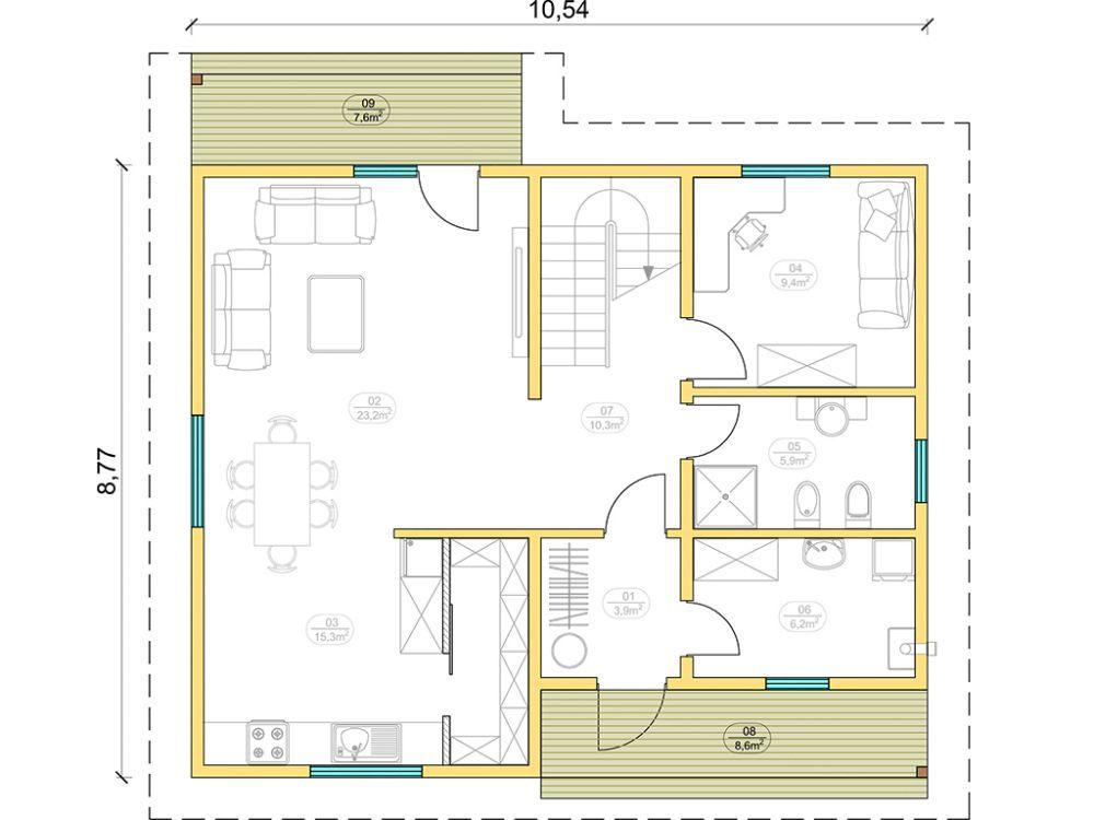 Kit maison 150 m² panneaux sips httpwww.panneauxmaisonossaturebois.com (1)