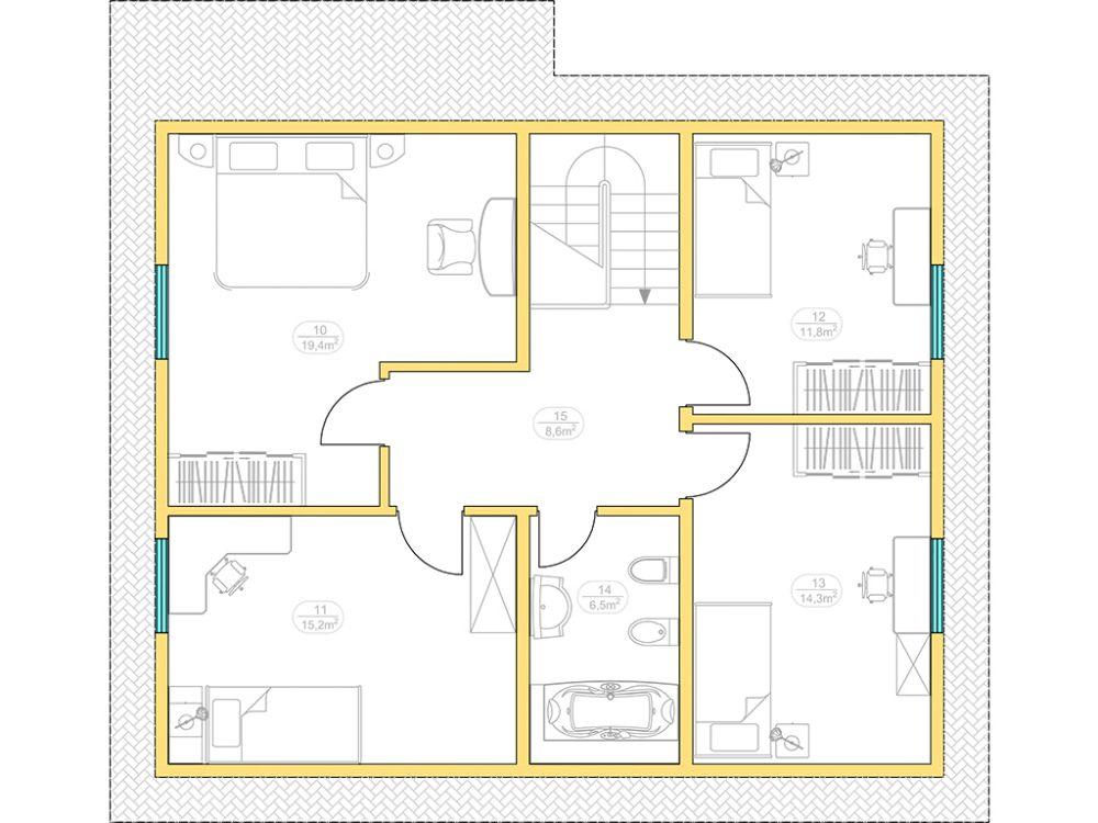 Kit maison 150 m² panneaux sips httpwww.panneauxmaisonossaturebois.com (2)