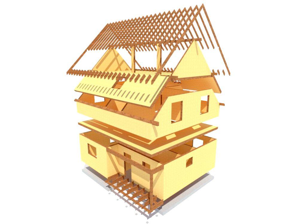 Kit maison 150 m² panneaux sips httpwww.panneauxmaisonossaturebois.com (6)