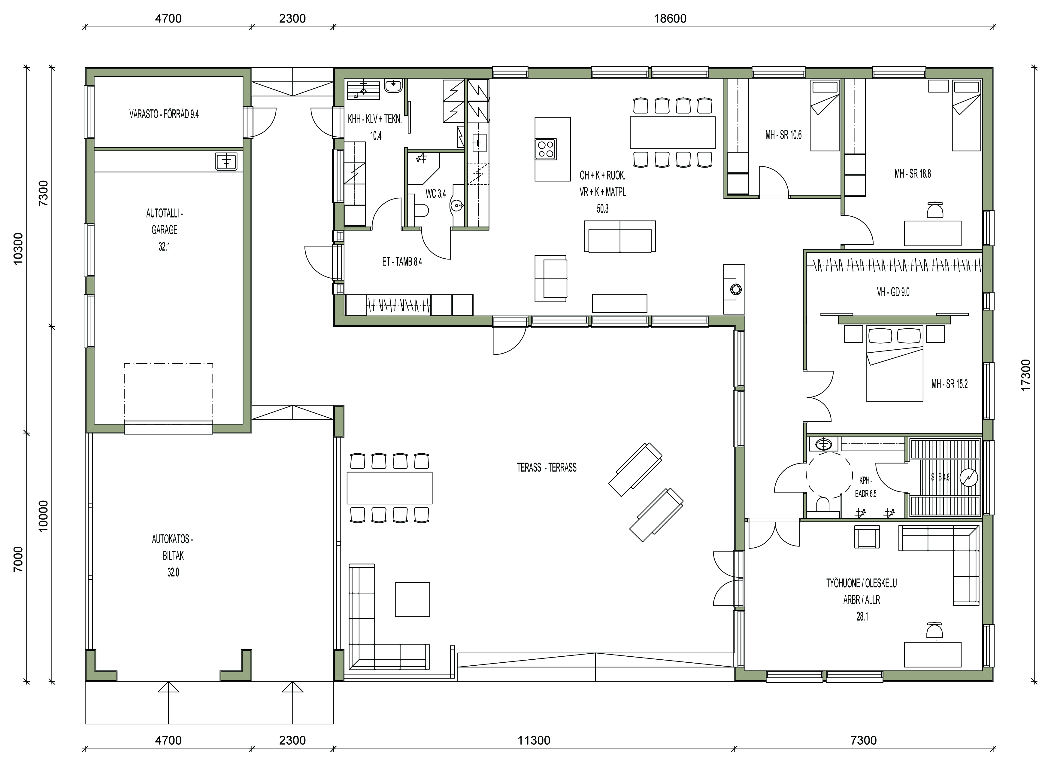 maison sips cubique plan 180 m² 02
