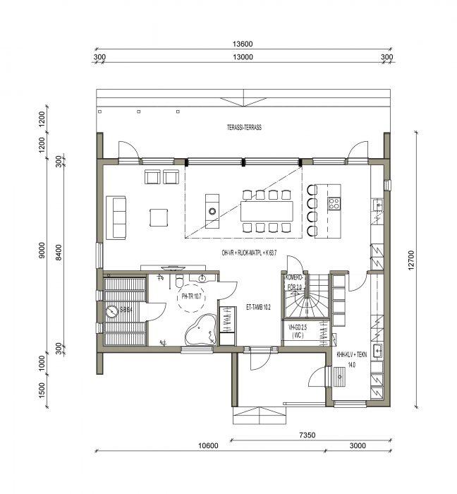 maison sips cubique plan 200 m² 02