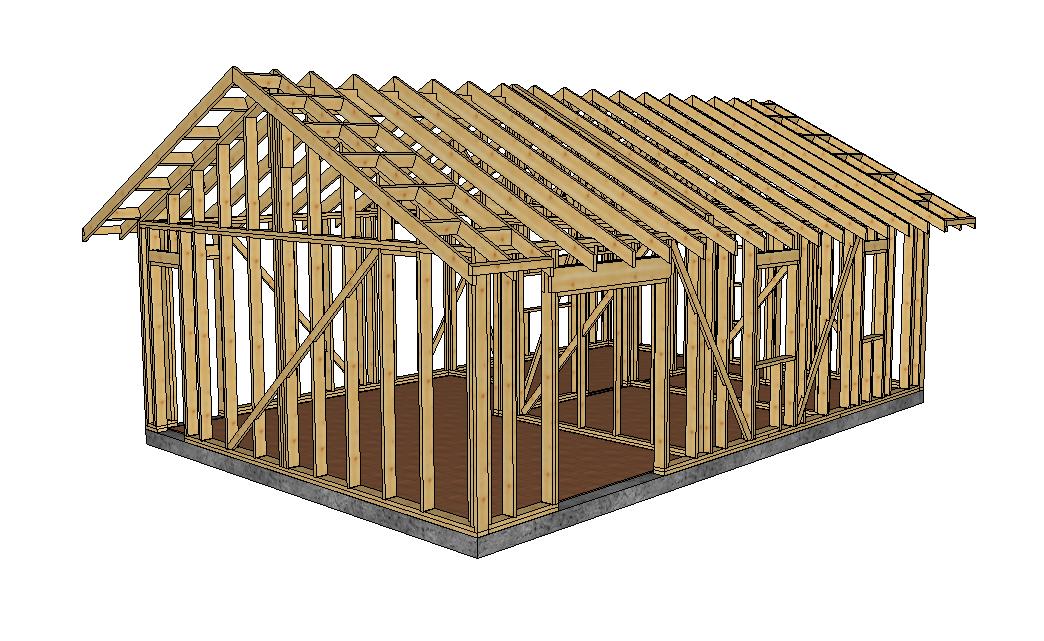 Structure chalet ossature bois 50 m² (2)