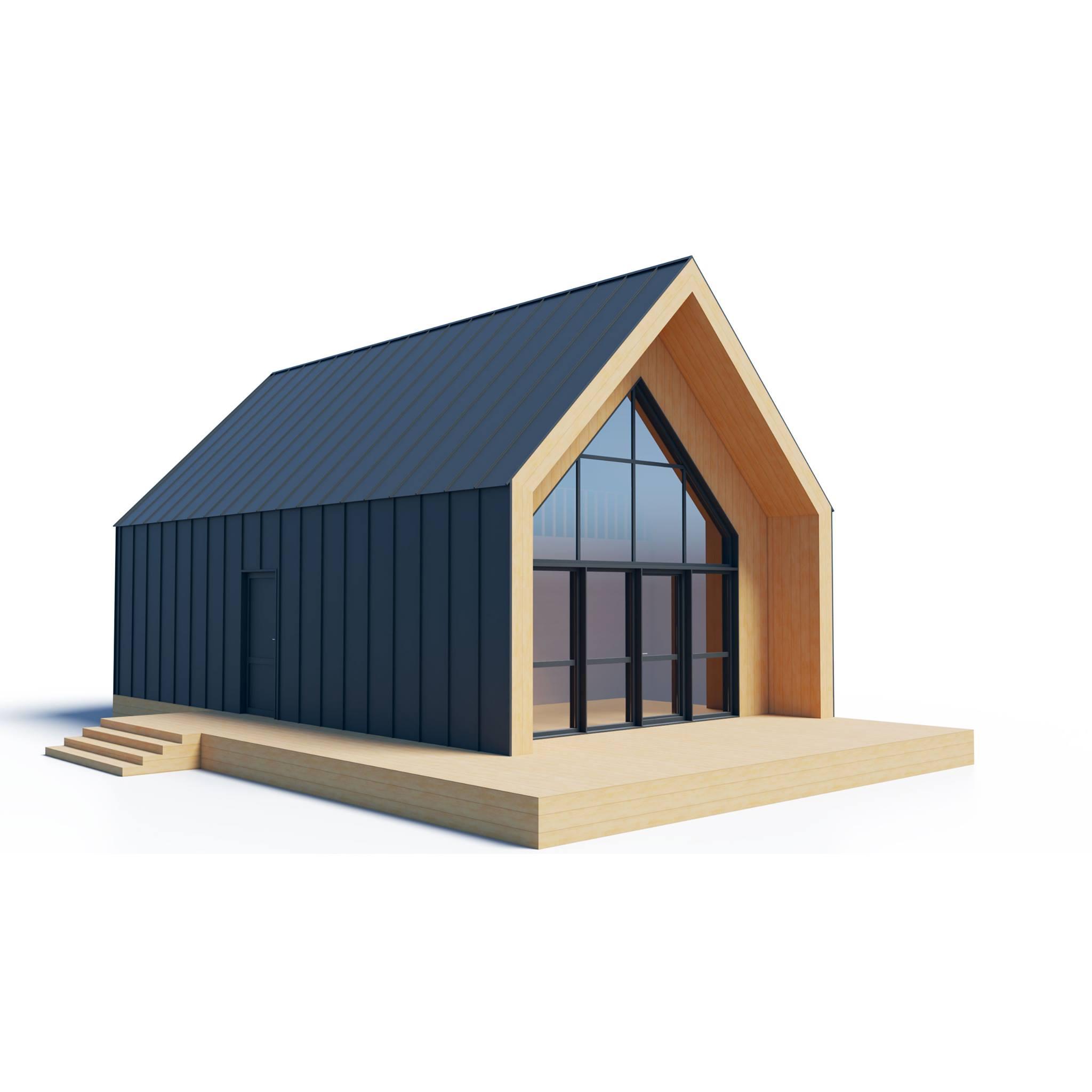Grange morderne structure bois 60 M² + Meza 001 (9)