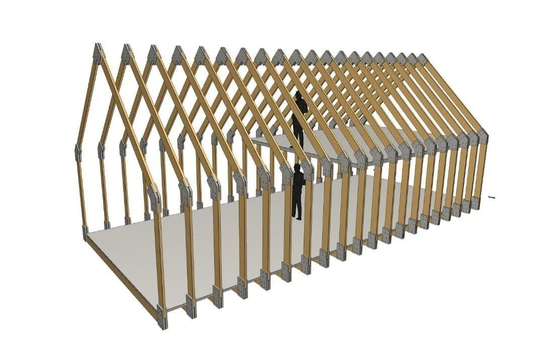 Grange morderne structure bois 60 M² + Meza 021