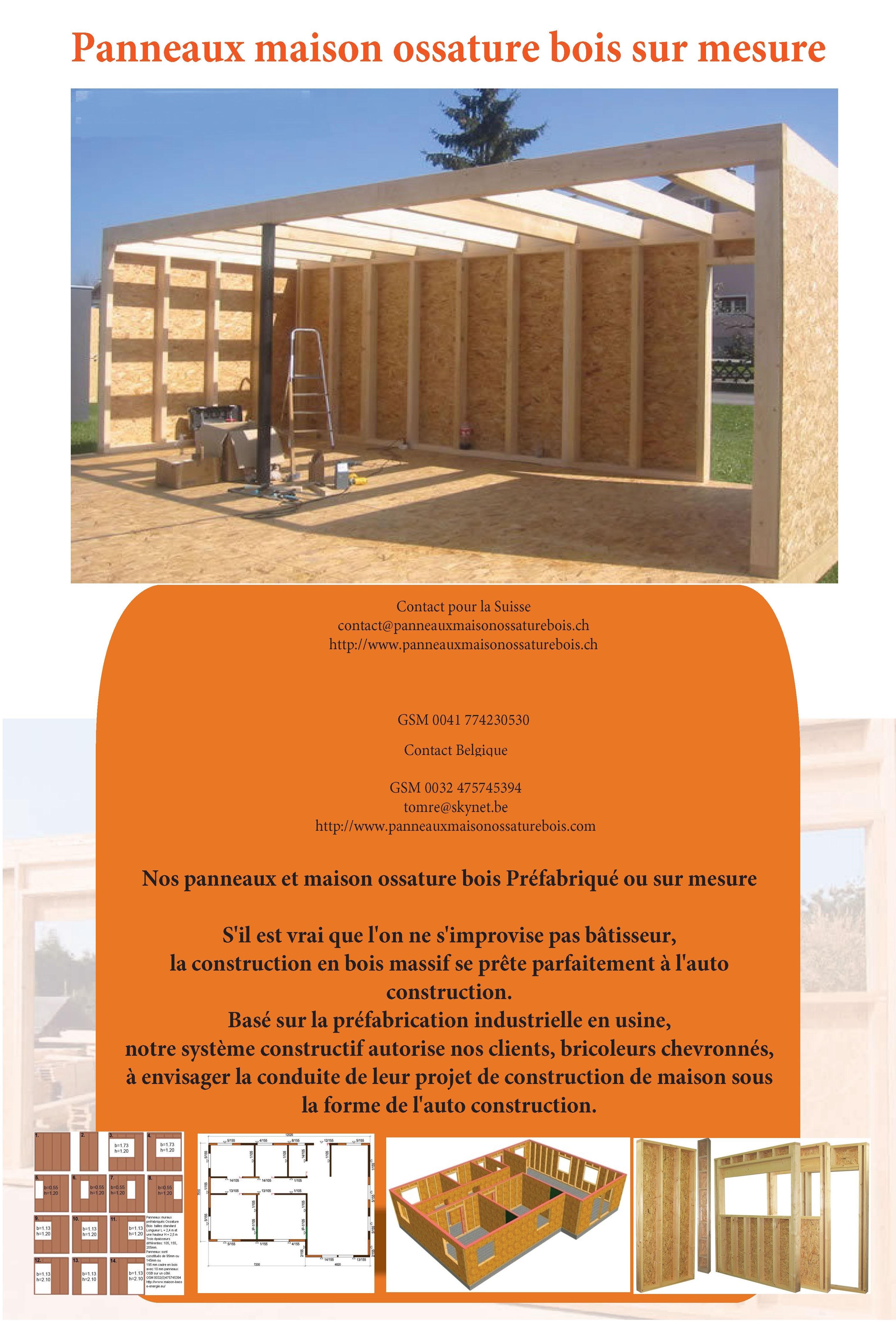Hangar En Kit Bois promo murs ossature bois | panneaux maison ossature bois